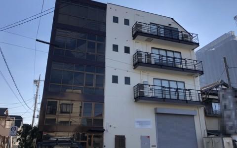 草加市のT株式会社様倉庫兼事務所建物折半屋根及び外壁改修塗装工事
