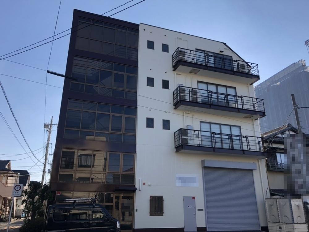 草加市 T株式会社様 倉庫兼事務所建物折半屋根及び外壁改修塗装工事