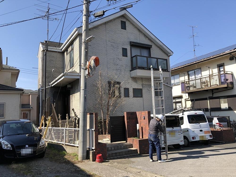 千葉県柏市のW様邸2階建て木造屋根外壁塗装棟板金新規取付工事