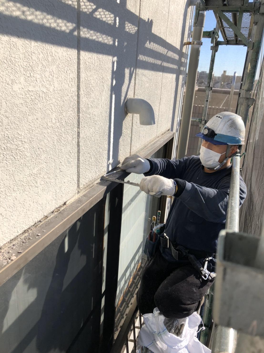 大田区のTビル外壁シーリング打替え工事