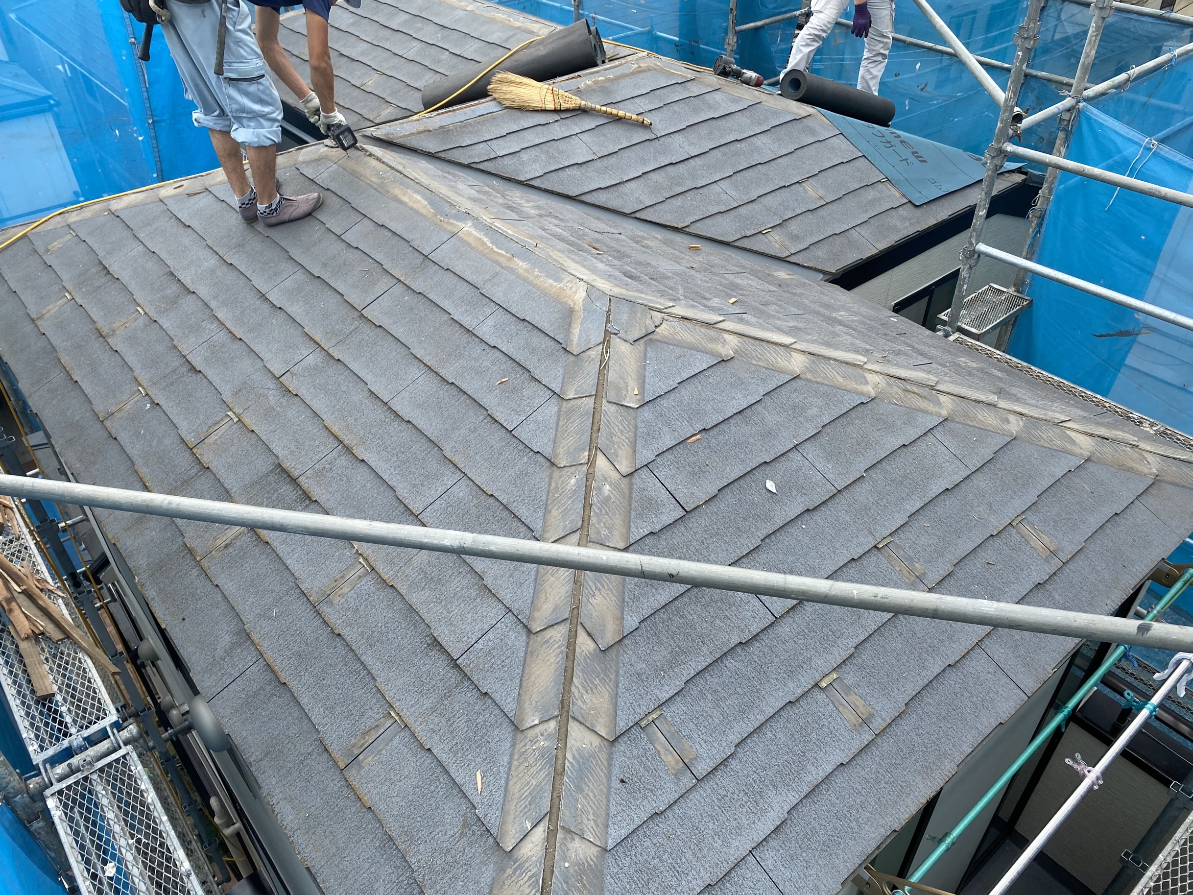 墨田区T様邸 屋根カバー工法及び外壁塗装工事