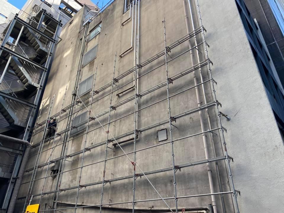 ビルの外壁塗装工事