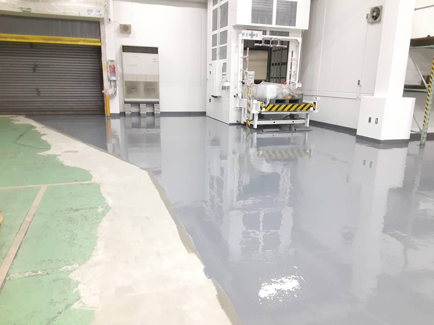 倉庫内 床塗装