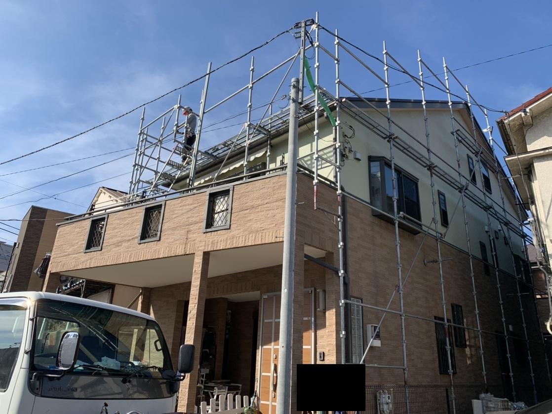 屋根塗装工事5日目