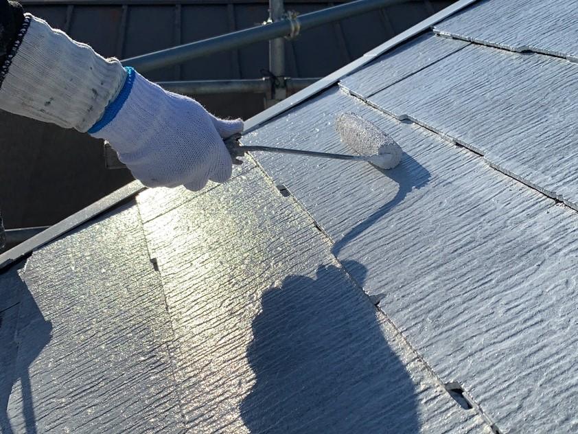 屋根塗装工事3日目