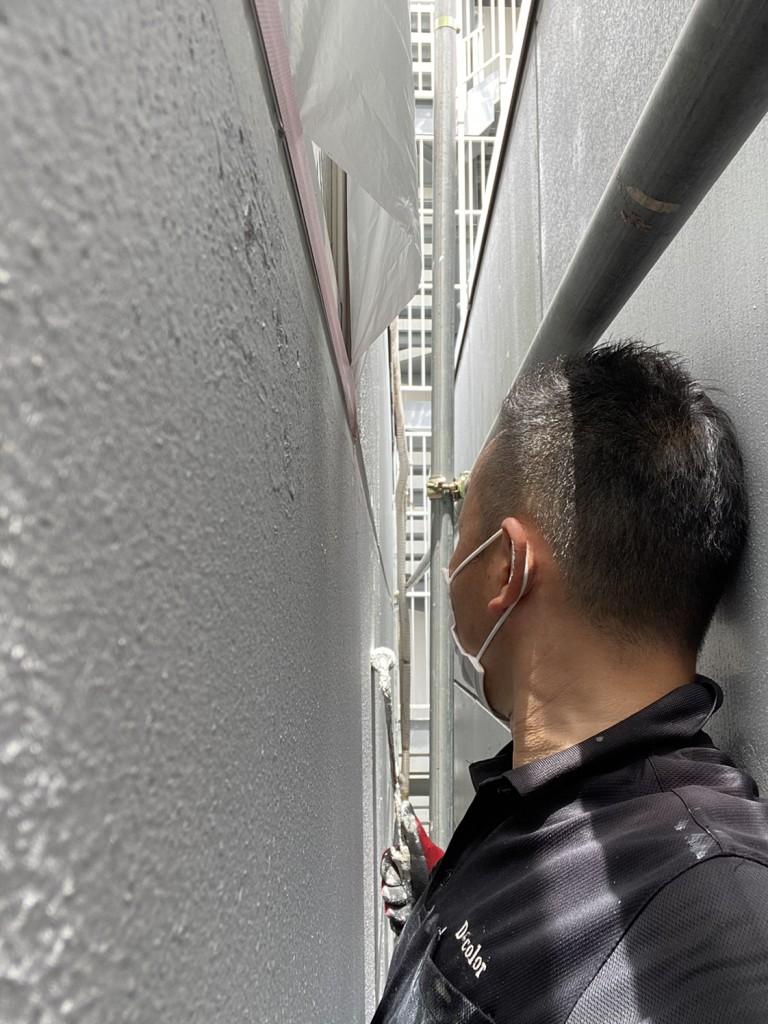 幅25㎝の外壁塗装