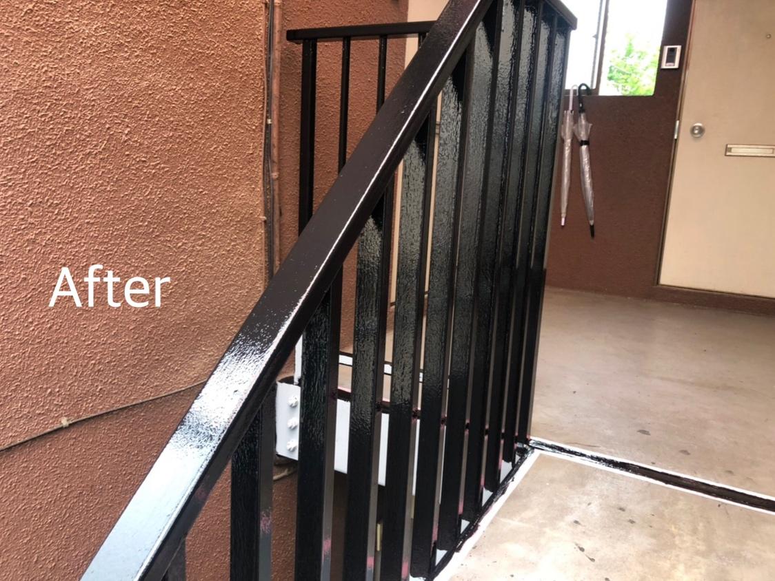 杉並区A様 アパート鉄骨階段屋根改修工事